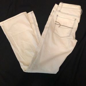American Eagle white/cream skinny flare cord NEW
